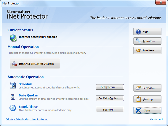 Click to view iNet Protector 4.7 screenshot