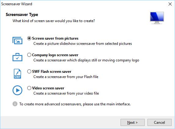 Screensaver Factory Professional screenshot